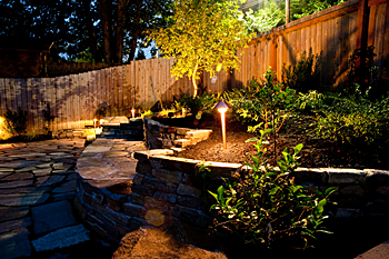 Landscape lighting and installation jefferson landscaping our lighting systems provides added security and safety increased usability of outdoor spaces quality fixtures and materials for years of use aloadofball Gallery
